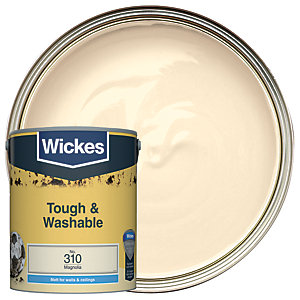 Wickes Magnolia - No. 310 Tough & Washable Matt Emulsion Paint - 5L