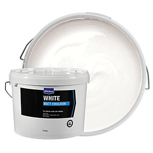 Wickes Matt Emulsion - White 10L