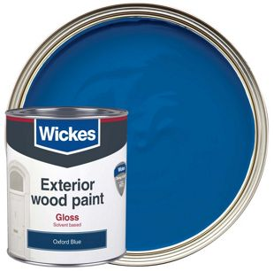 Wickes Exterior Gloss Paint - Oxford Blue 750ml | Wickes.co.uk on zinsser exterior paint, rust-oleum exterior paint, fired earth exterior paint, dulux exterior paint, gloss exterior paint, crown exterior paint, weathershield exterior paint, glidden exterior paint, satin exterior paint,