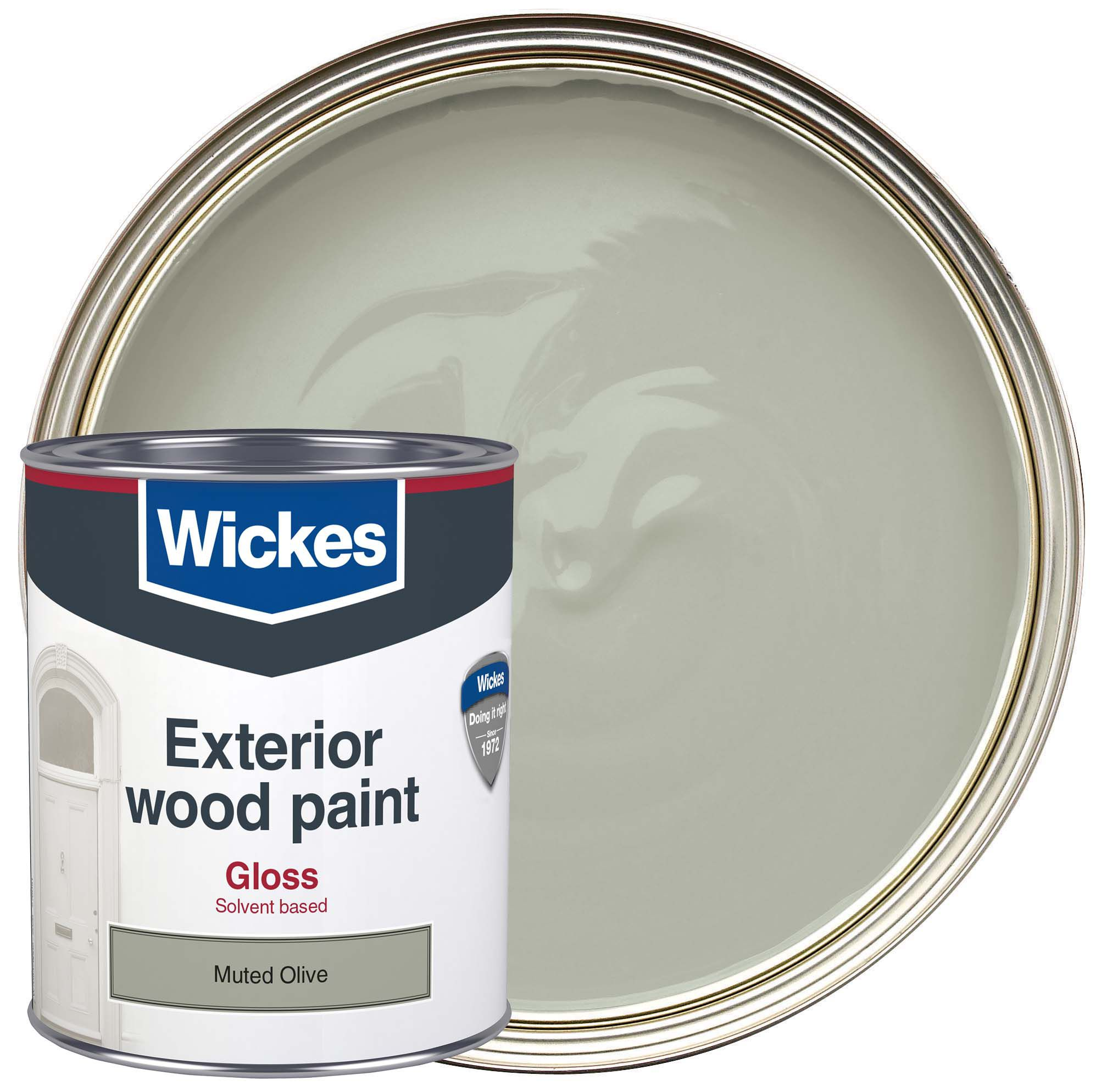 Wickes Exterior Gloss Paint   Muted Olive 750ml | Wickes.co.uk
