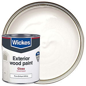 Wickes Exterior Gloss Pure Brilliant White 750ml