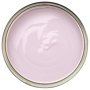 Wickes Non-Drip Gloss Paint - Soft Pink 750ml