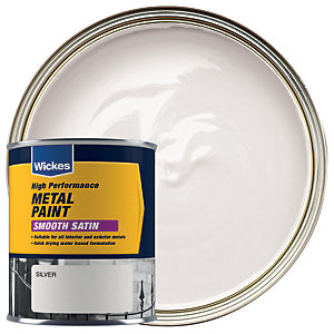 Wickes Metal Paint - Smooth Satin Silver 750ml