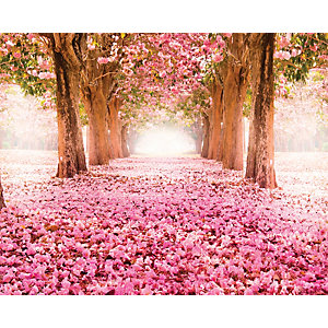 ohpopsi Pink Cherry Blossoms Wall Mural