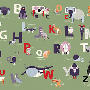 Image of ohpopsi Alphabet Wall Mural Multi - 14.4m (L)
