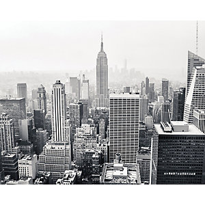 Image of ohpopsi Empire State Wall Mural Grey - 19.6m (XL)