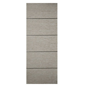 Wickes Milan Light Grey Real Wood 5 Panel Internal Door - 1981mm x 686mm