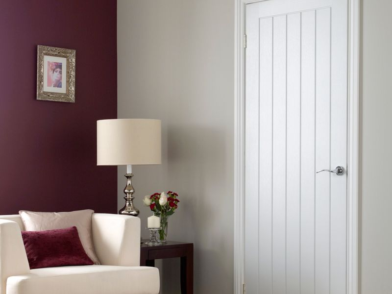 Wickes Geneva White Grained Moulded Cottage Internal Door - 1981mm x 762mm