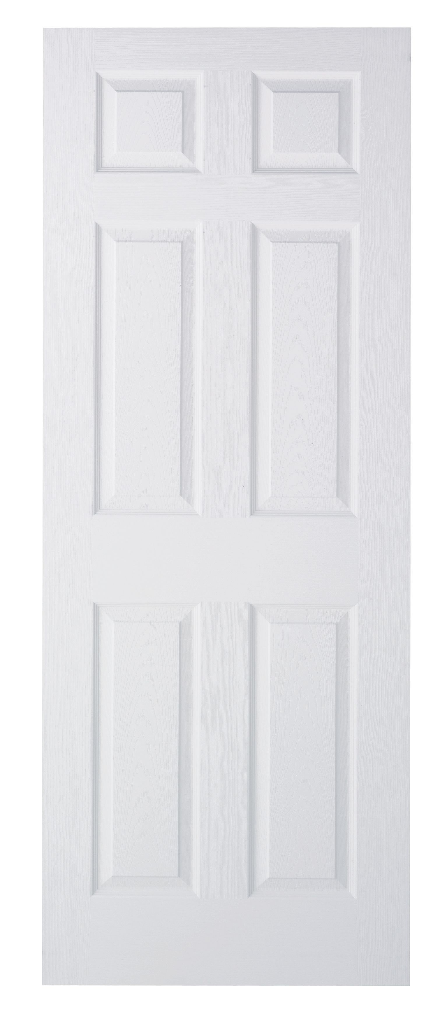 Wickes Woburn White Grained Moulded 6 Panel Internal Door   1981mm X 762mm by Wickes