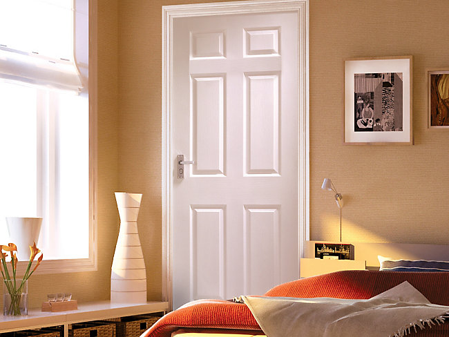Woburn Grained Moulded 6 Panel Internal Door 1981mm X 762mm
