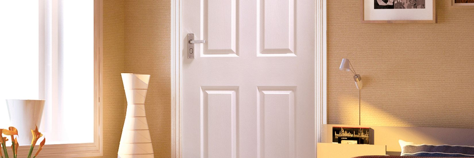 Woburn White Grained Moulded Door - 1981mm X 762mm