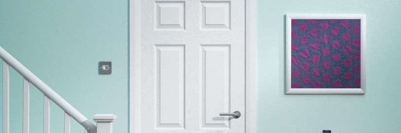 Woburn White Grained Moulded 6 Panel Internal Door - 1981mm X 762mm
