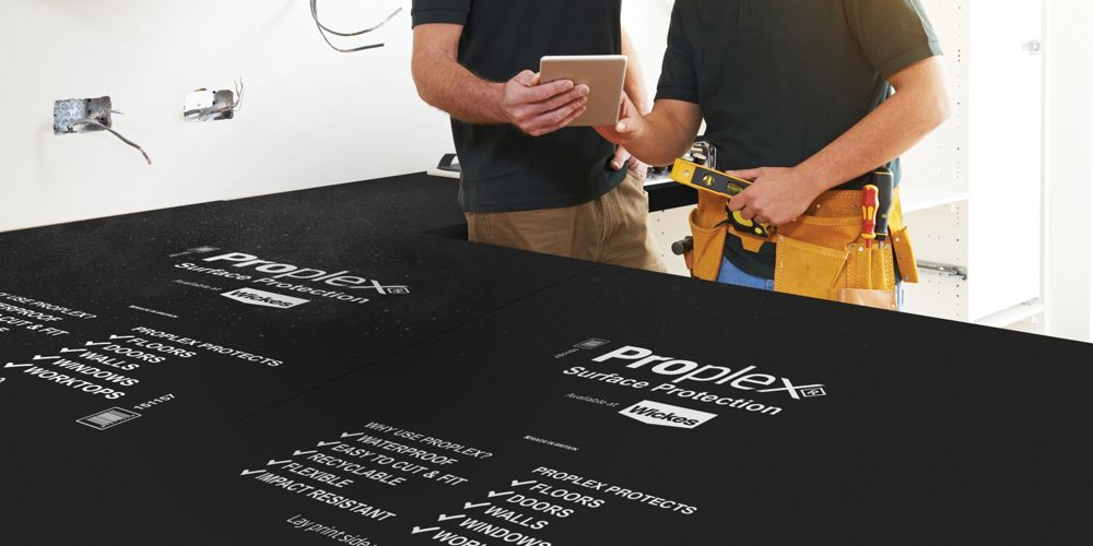 Proplex Black Surface Protection Sheet - 2mm x 1.2m x 2.4m