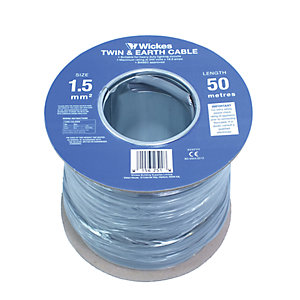 Wickes Twin & Earth Cable - 1.5mm2 x 50m