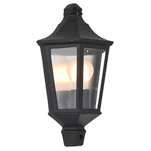 Wickes Naples Black Half Lantern - 60W