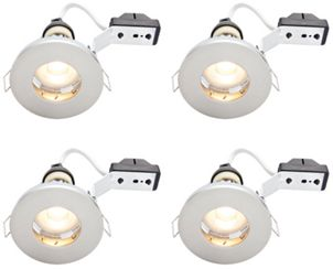 Wickes brushed chrome led ip65 downlight 4w pack of 4 wickes wickes brushed chrome led ip65 downlight 4w pack of 4 wickes aloadofball Images