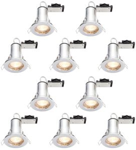Wickes Chrome LED Fire Rated Downlight - 4W - Pack of 10