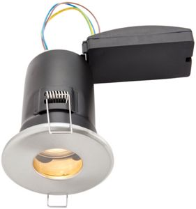 timeless design b02ca 94d28 Wickes Brushed Chrome LED Fire Rated IP65 Bathroom Downlight - 6W