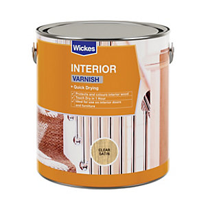 Wickes Quick Drying Interior Varnish - Clear Satin 2.5L
