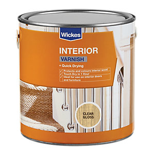 Wickes Quick Drying Interior Varnish - Clear Gloss 2.5L