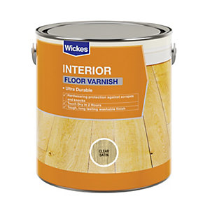 Wickes Floor Varnish - Clear Satin 2.5L