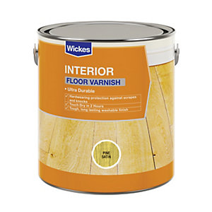 Wickes Floor Varnish - Pine Satin 2.5L