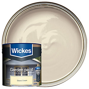 Wickes Garden Colour Matt Wood Treatment - Classic Cream 2.5L