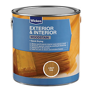 Wickes Quick Drying Woodstain - Light Oak 2.5L
