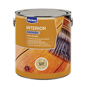 Wickes Interior Varnish - Clear Matt 750ml