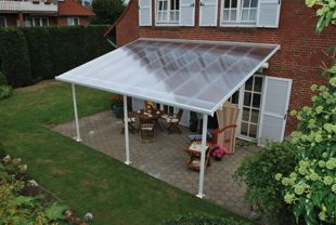 Palram feria polycarbonate patio canopy white 2950 x 5460 mm mouse over image for a closer look freerunsca Images