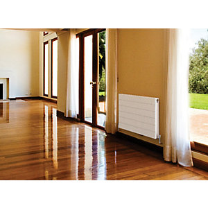 Image of QRL Ligna Double Panel Plus Designer Radiator - White 600 x 1200 mm