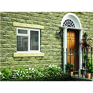 Wickes White Timber Casement Window - RH Side Hung & Top Hung 1195 x 1195mm