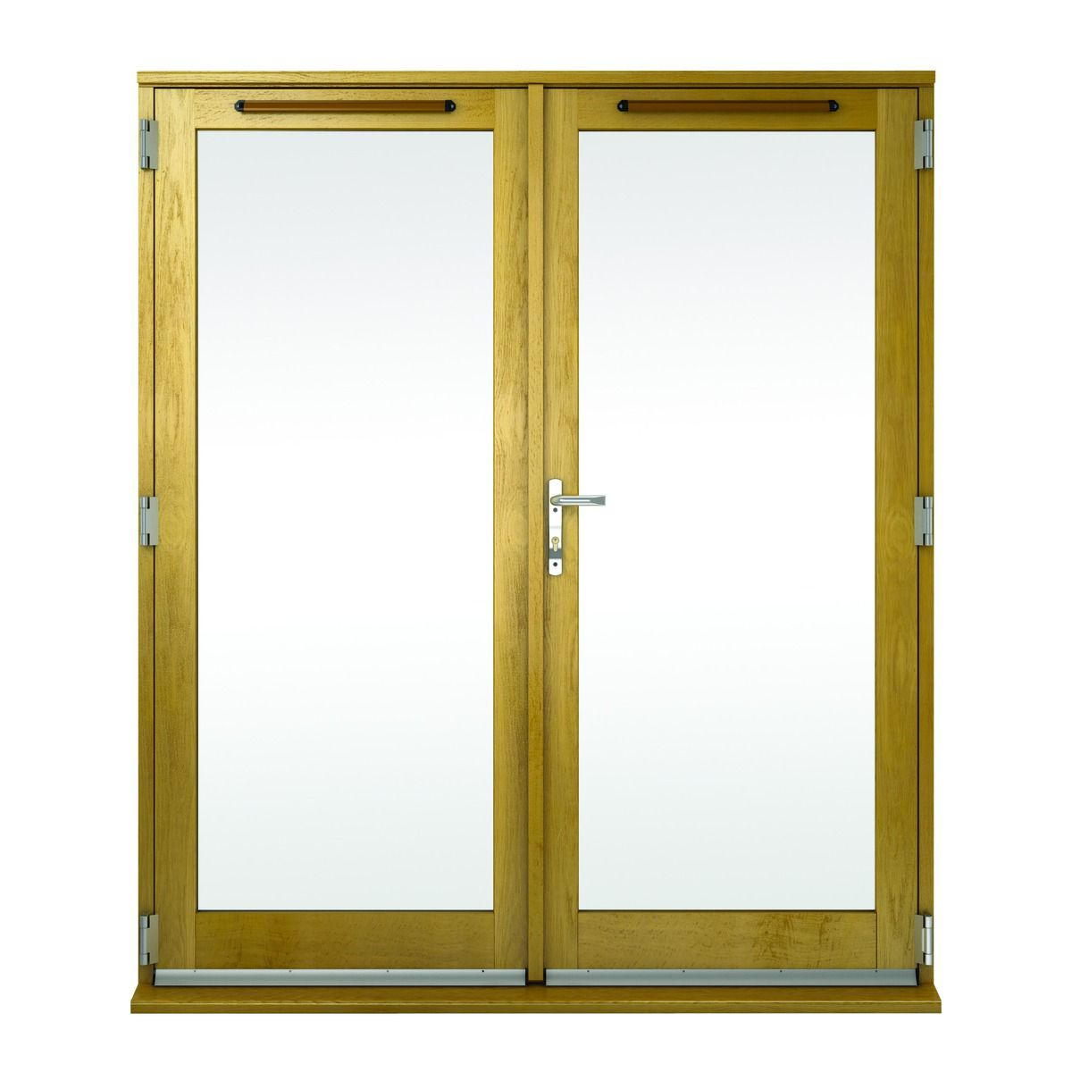 Albery Pattern 10 Bar Solid Oak Laminate French Door Outwards Opening |  Wickes.co.uk