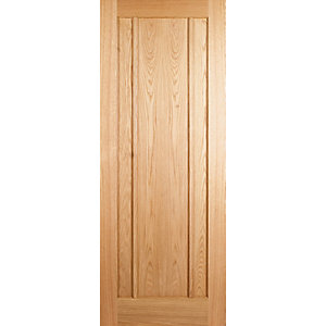 Wickes York Internal 3 Panel Oak Fire Door - 1981x686mm