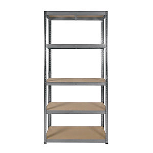 Image of Rb Boss 5 Tier Wood Shelving Kit - 1800 x 900 x 300mm 250kg Udl