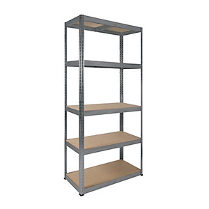 Image of Rb Boss 5 Tier Wood Shelving Kit - 1800 x 900 x 400mm 250kg Udl