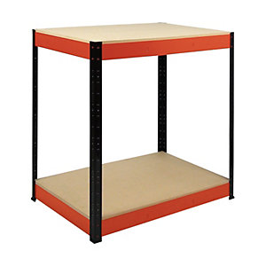 Image of Rb Boss 2 Tier Wood Shelves Workbench - 900 x 900 x 300mm 300kg Udl