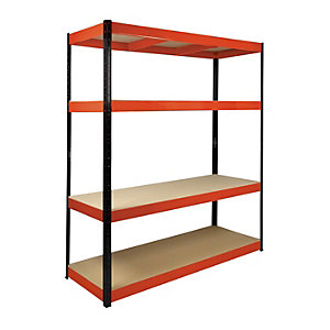 Image of Rb Boss 4 Tier Wood Shelving Kit - 1800 x 1600 x 600mm 500kg Udl