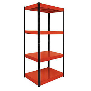Image of Rb Boss 4 Tier Metal Shelving Kit - 1800 x 900 x 600mm 400kg Udl