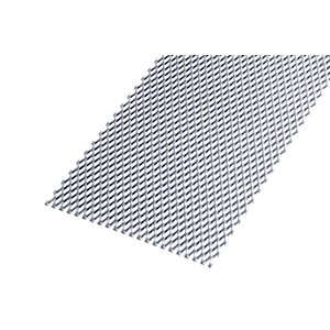 Image of Wickes Perforated Steel Stretched Metal Sheet 250 x 500mm x 1.20mm