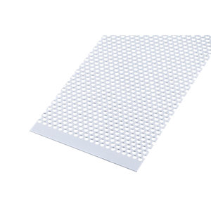 Wickes Metal Sheet Perforated Round Hole 4.0mm Anodised Aluminium 250 x 500mm