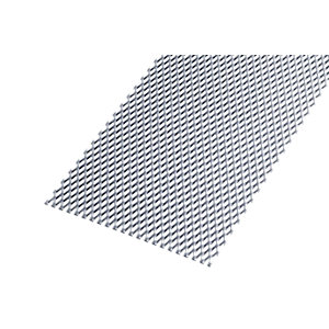 Image of Wickes Perforated Steel Stretched Metal Sheet 250 x 500mm x 2.20mm