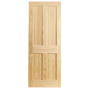 Wickes Skipton Clear Pine 4 Panel Internal Fire Door - 1981mm x 762mm