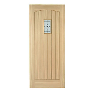 Wickes Croft External Cottage Oak Door Glazed