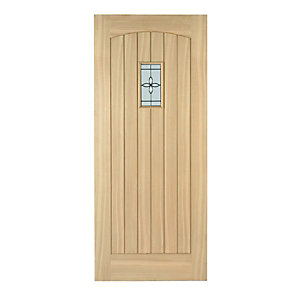 Wickes Croft External Cottage Oak Veneer Door Glazed 1981 x 762mm