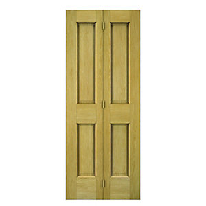 Wickes Cobham Internal Bi-fold Door Oak Veneer 4 Panel 1981 x 686mm