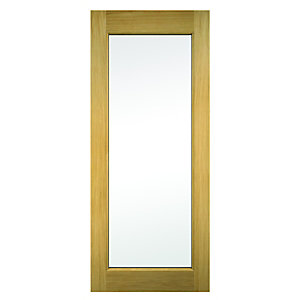 Wickes Oxford External Oak Door Glazed