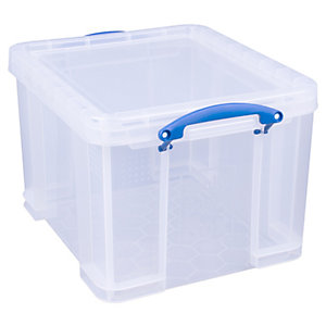 Image of Really Useful Clear Box - 35L