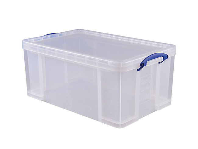 Really Useful Clear Crate - 64L