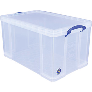 Image of Really Useful Clear Storage Box - 84L